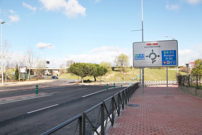 Salida A1 Rotonda Alcobendas