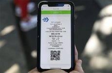 Imagen del billete sencillo electrónico con la app de Imbric para los autobuses de la EMT de Madrid